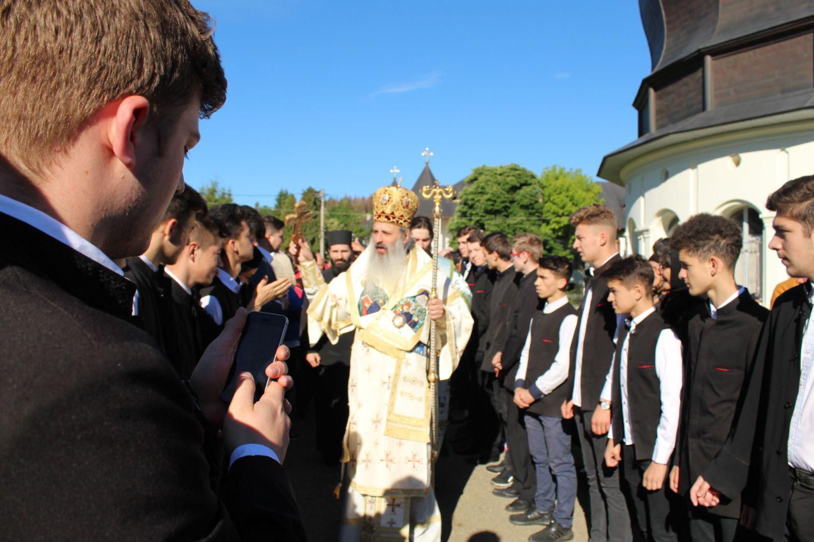 Prezența Seminariștilor la hramul Mănăstirii Neamț