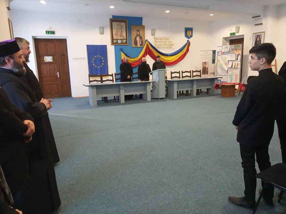Părintele profesor Radu Preda la Seminarul de la Neamț