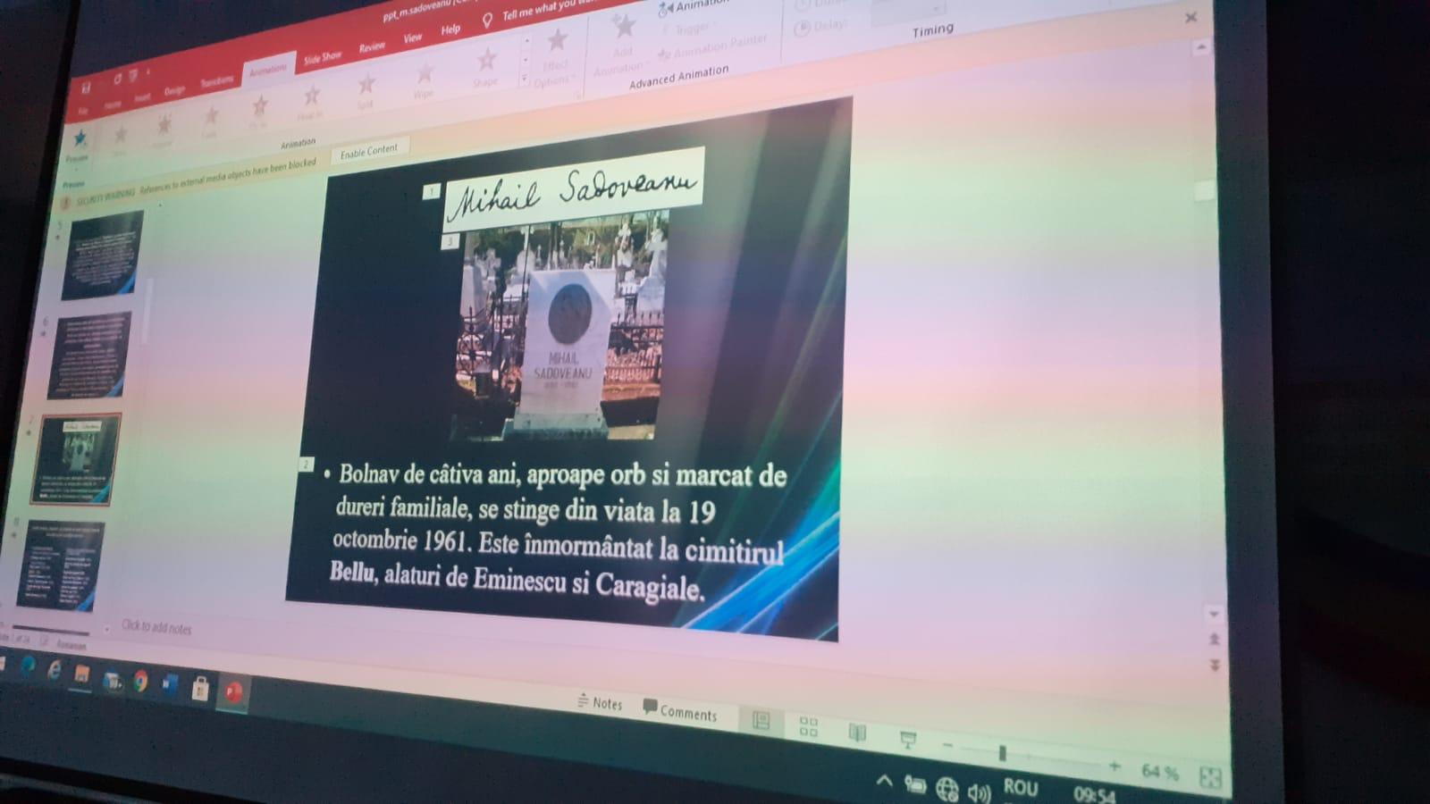 """140 ani de la nașterea lui M. Sadoveanu – """"Ceahlăul literaturii române"""""""