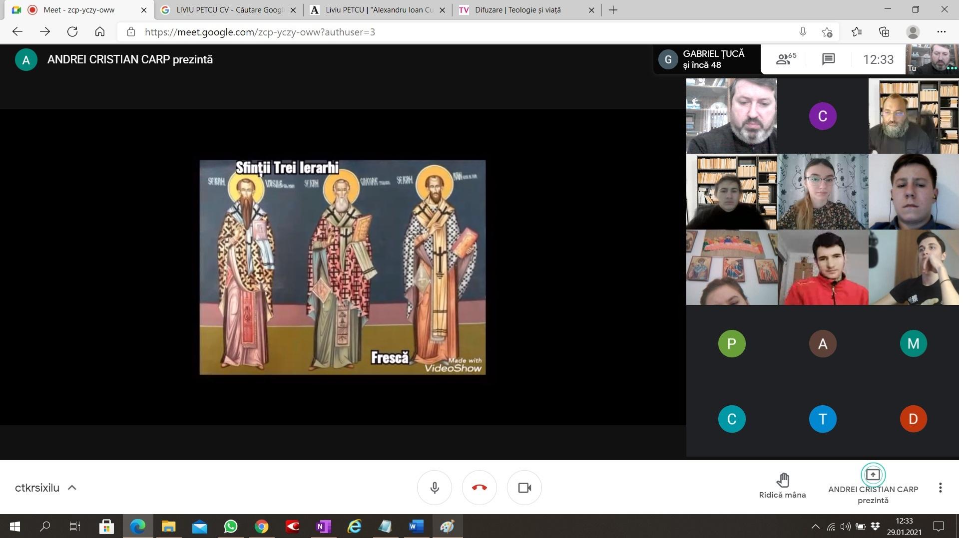 Sf. Trei Ierarhi sărbătoriți la Seminarul de la Neamț